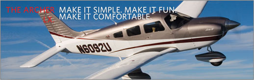 Piper Archer LX - PA-28-181 - Four-Place Single Engine Piston Entry Level - Cutter Piper Sales - New Aircraft Sales for Southern California and Hawaii - Los Angeles, San Diego, Orange County, Burbank, Bakersfield, Santa Barbara