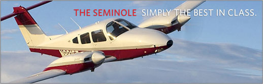Piper Seminole - PA-44-180 - Four-Place Multi-Engine Piston Flight Training Aircraft - Cutter Piper Sales - New Aircraft Sales for Southern California and Hawaii - Los Angeles, San Diego, Orange County, Burbank, Bakersfield, Santa Barbara