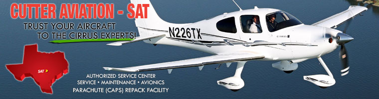 Cirrus Aircraft parachute repack and services by Cutter Aviation Avionics San Antonio (SAT)