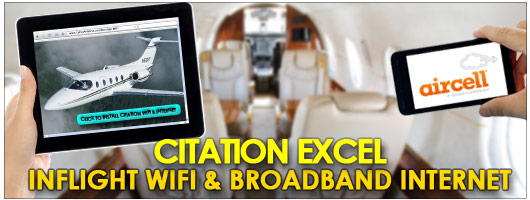 Citation Excel Inflight Cabin WiFi Broadband Internet by Aircell STC from Cutter Aviation Phoenix PHX