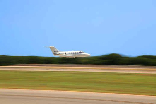 Cutter Aviation Beechjet Taking Off