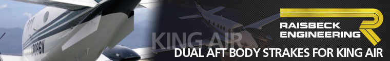 Cutter Aviation Technical Services - Raisbeck Engineering Dual Aft Body Strakes for King Air