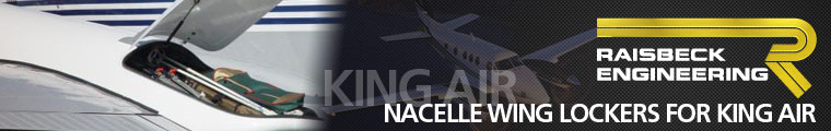 Cutter Aviation Technical Services - Raisbeck Engineering Nacelle Wing Lockers for King Air 100 Series