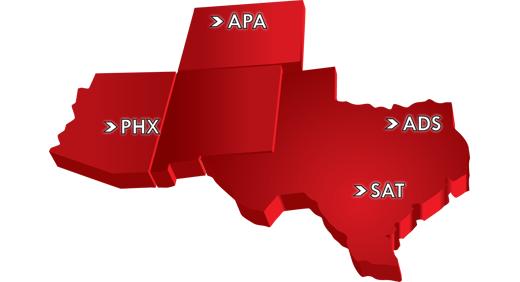 Cutter Aviation Service Centers Map