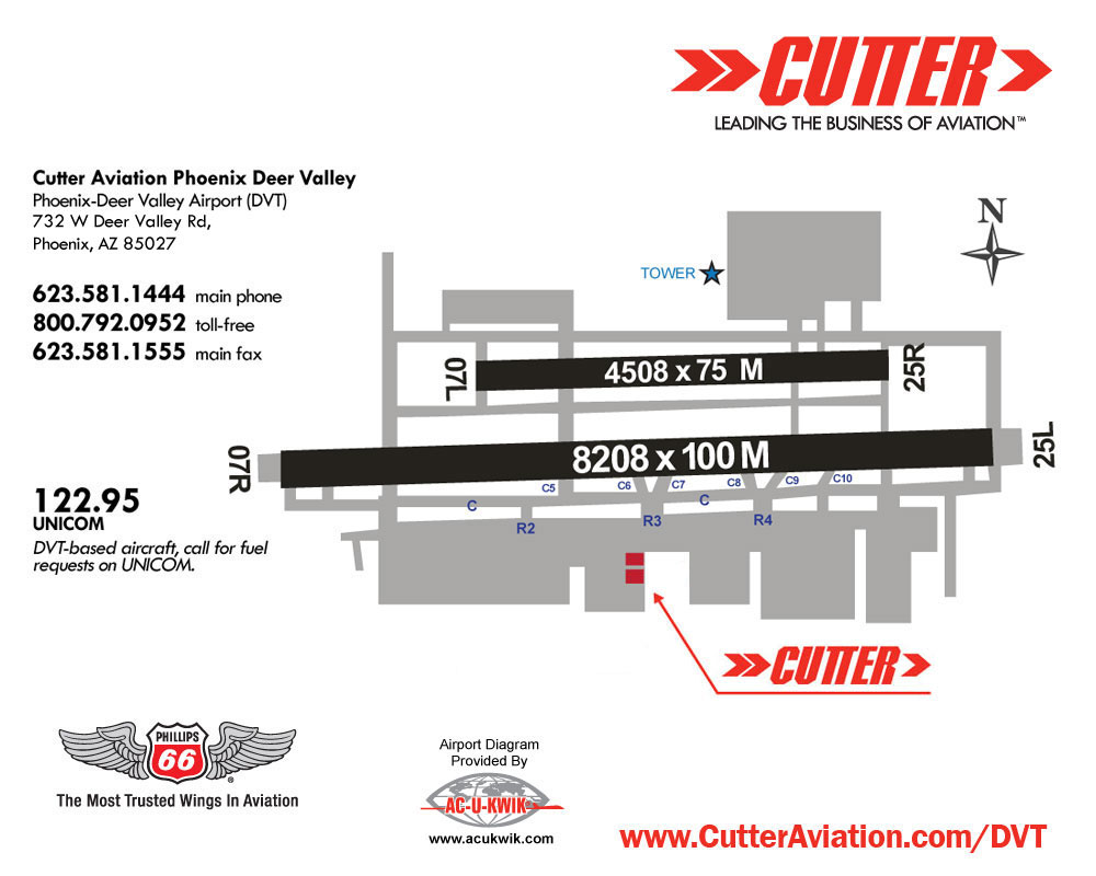 phoenix deer valley az dvt cutter aviation fbo location rh cutteraviation com Airplane Wing Diagram Aircraft Engine Diagram