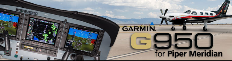 The Garmin G950 Retrofit STC Package for Piper Meridian by Cutter Aviation Avionics